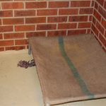 Sleeping quarters have tramp beds and blankets when necessary